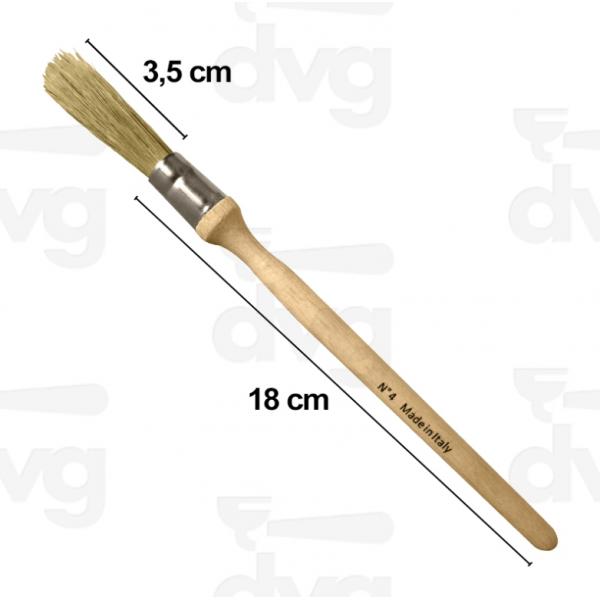 Кисточка для чистки кофемолки с деревянной ручкой