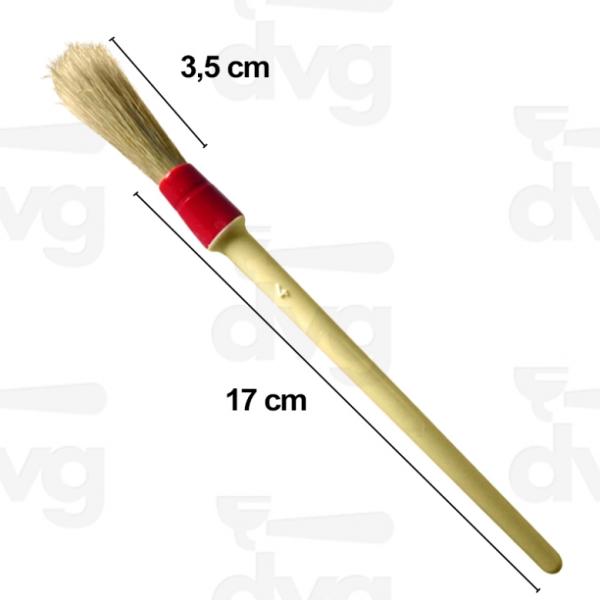 Кисточка для чистки кофемолки с пластиковой ручкой