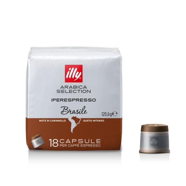 Кофе Illy молотый в капсулах, Бразилия 18 шт